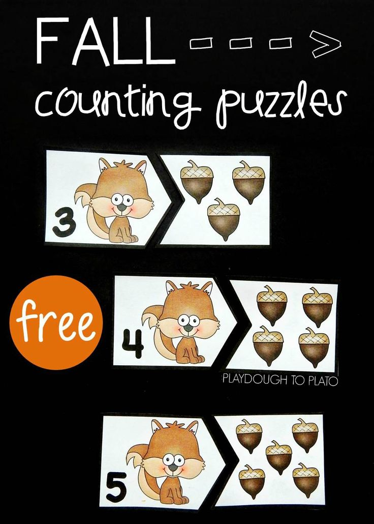 These adorable fall counting puzzles- are here to help students work on counting from 1-20! A great way for preschool and kindergarten kids to work on number recognition!