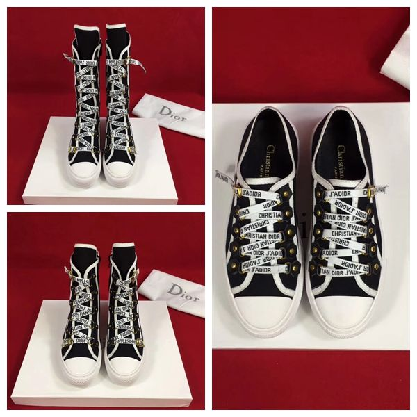 7a486fa2805 Dior Canvas J Adior Laces High-Top Trainer Sneakers White Cruise 2018 Size   35-40 Trainer in canvas with