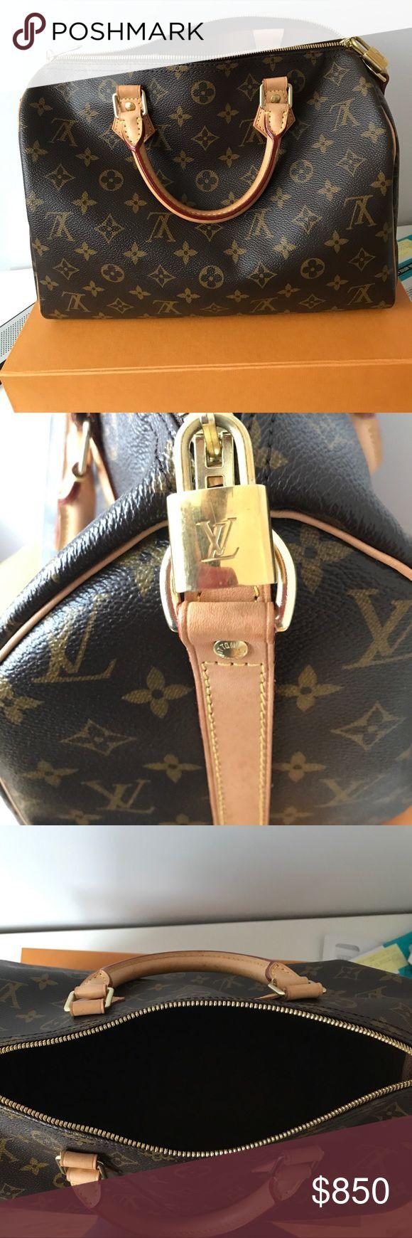 Louis Vouitton Bag Authentic, medium size, straps, locks , bag, box included. Great condition. Louis Vuitton Bags Shoulder Bags