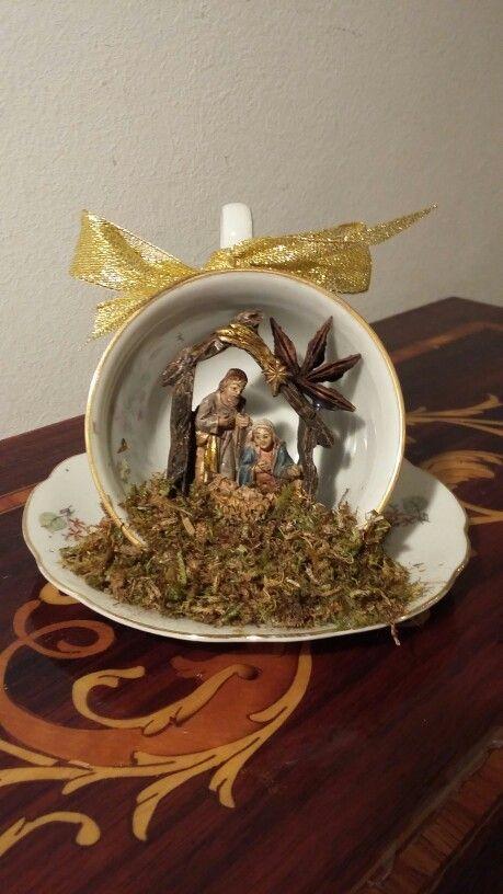 TEaCuP NaTiViTY SCeNe ____Il mio Natale in tazzina Made in Arte Amore e Fantasia