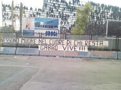 Striscione a Forsinone per Gabriele Sandri 11-11-2012
