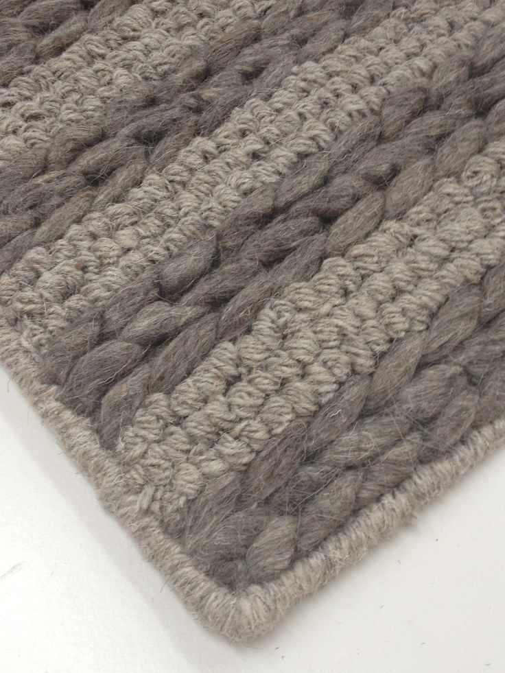Thick Heavily Textured Grey Wool Rug Alpine Bushland By Bayliss Available In