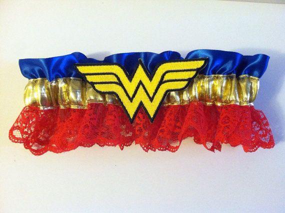 Wonder Woman Wedding Garter by DeathStarDoll on Etsy