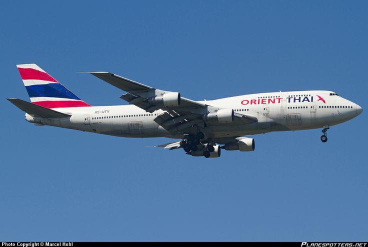 HS-UTV Orient Thai Airlines Boeing 747-346