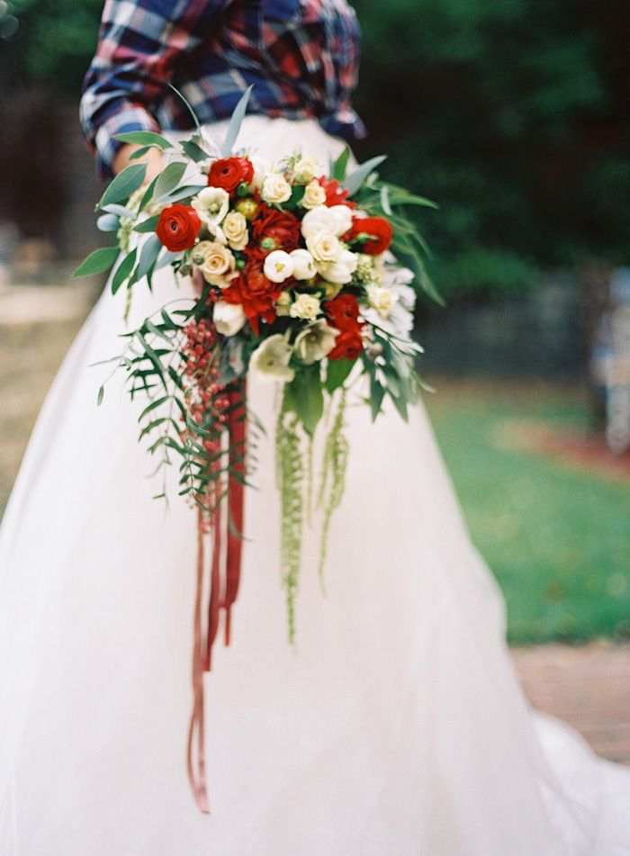 Find This Pin And More On Red To Burgundy Wedding Bouquets By Nocarns
