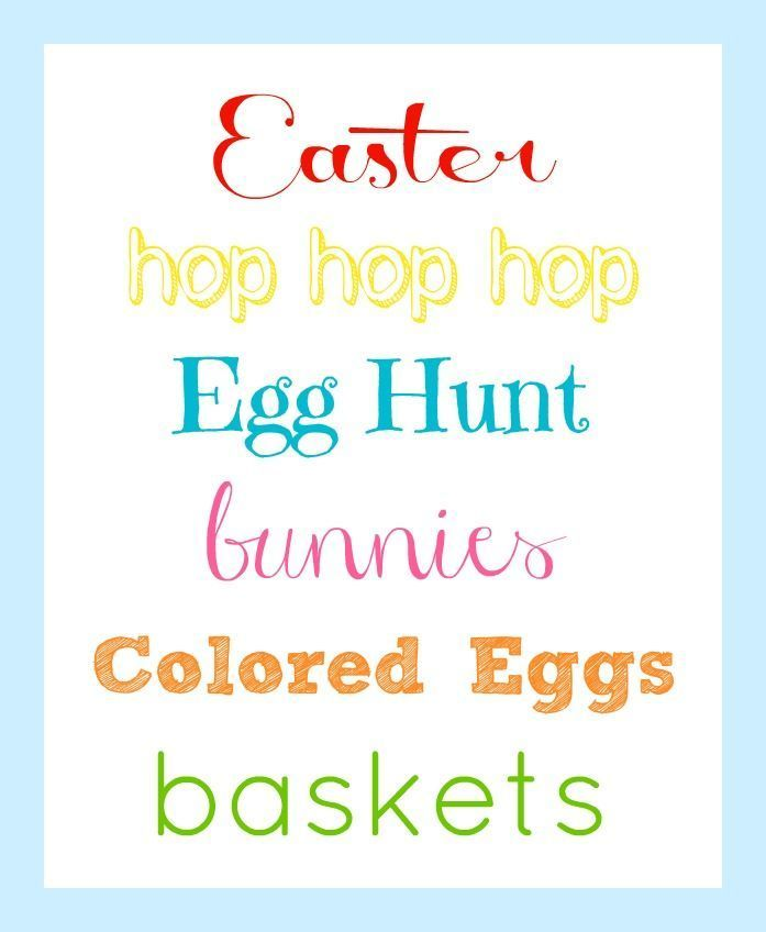 Easter Printable – Organize and Decorate Everything   – FREEBIES-Printables and Downloads