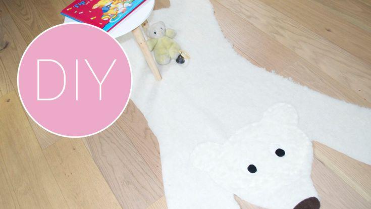 De kinderkamer of babykamer een make-over geven hoeft niet veel te kosten, dat laten we je vandaag zien. Met een stuk stof en wat vilt kun je al iets heel leuks maken, bijvoorbeeld dit ijsberenkleed.