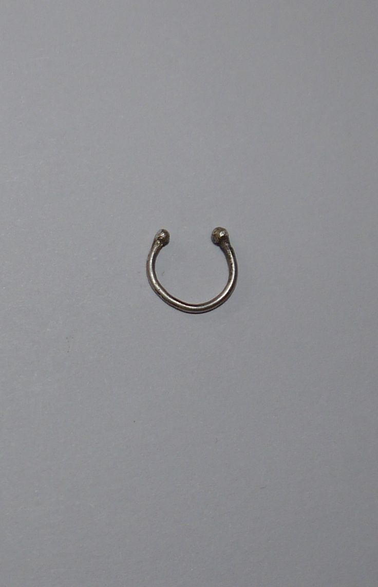 Plain Faux septum ring Made with Sterling Silver