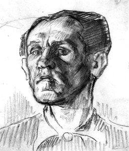 By Schulz, Bruno - Self-portrait