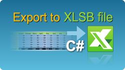 Export data to XLSB file in C#.NET using EasyXLS Excel library! The file has multiple sheets and the first sheet is filled with data. #Excel #XLSB #CSharp #Export