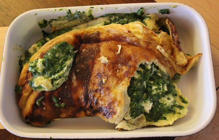 ♥ The inspiring life ♥: Low Carb - Omelett mit Spinat und Feta