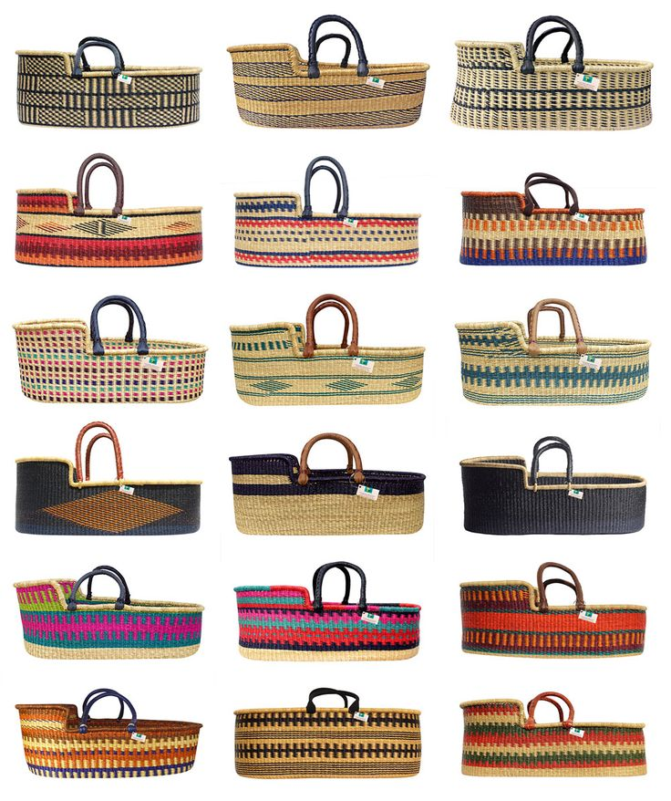 Hand woven baby baskets from Ghana