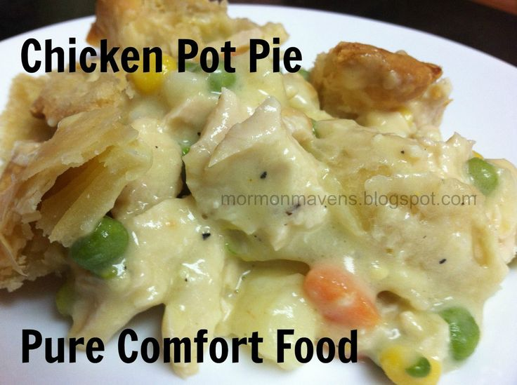 I was thinking of giving you a recipe for a diet soup that I love, but then I thought that everyone should know how to make a delicious homemade pot pie for those days that you need a little comfort...