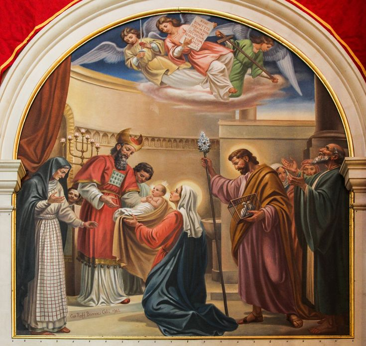 The Holy Family in the Temple (Presentation of the Child Jesus) / La Sagrada Familia en el Templo // From the Dominican church in Vittoriosa, Malta // Photo: Lawrence OP