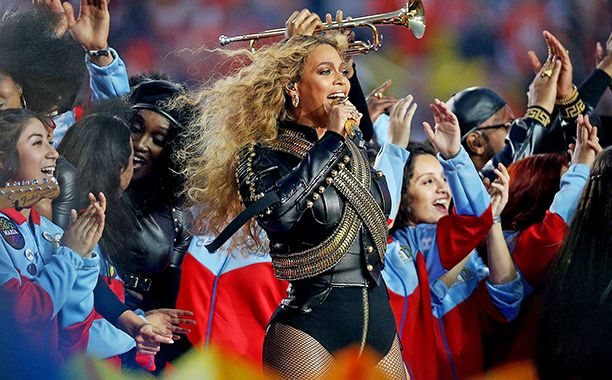 """Forget that Coldplay headlined the Super Bowl 50 halftime show. Forget that Bruno Mars also joined in the performance or that a clips reel showcased past musical legends or that the 12-minute concert was only an interlude in the biggest football game of the year. The moment viewers will remember most was Beyoncé's, who performed — nay, slayed — """"Formation,"""" a song barely a day old, on America's largest stage."""