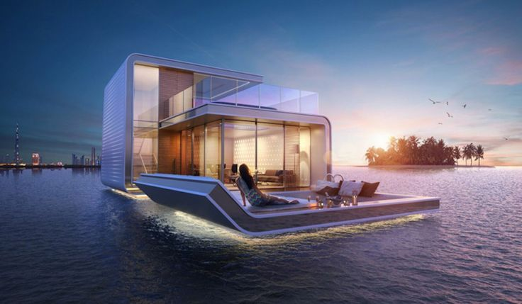 Waterfront home in Dubai - The Floating Seahorse. Innovative home design.