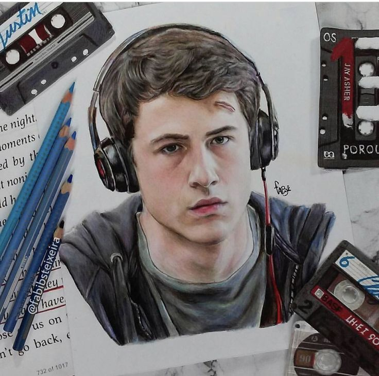 Clay Jensen (Dylan Minnette) - 13 Reasons Why Art