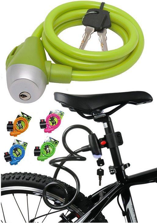 Bicikli kábelzár lakat váztartóval. A színes műanyaggal bevont, erős acélkábel ellenálló a vágó szerszámos támadásokkal szemben. A beépített minőségi...