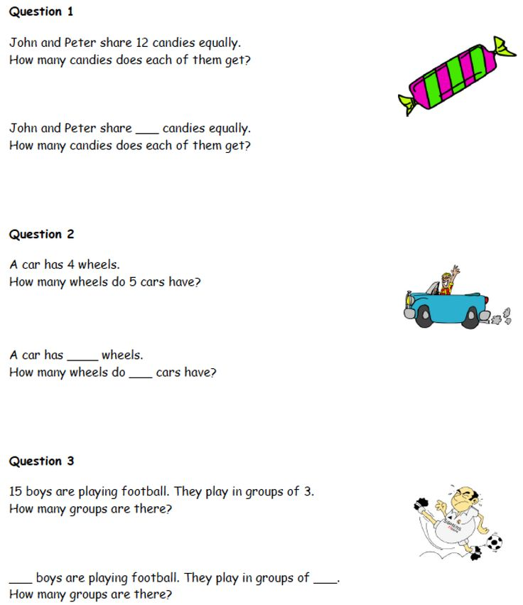Multiplication and division practice sheet for Grade One
