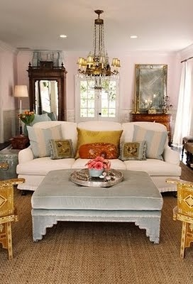 Love this room by Windsor Smith, a great eclectic mix.