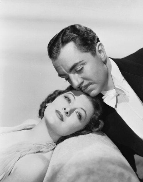 -Myrna Loy on first meeting William Powell on the set of Manhattan Melodrama (1934, dir. WS Van Dyke) by elsa