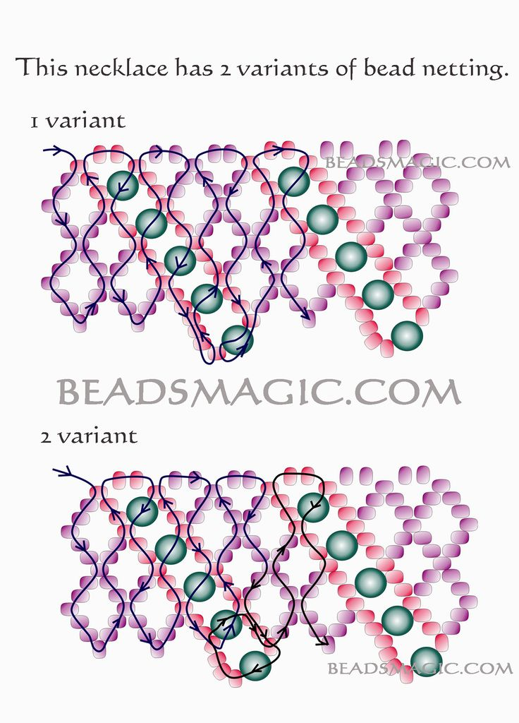 """Free pattern for necklace Helga - 2--------U need Seed Beads 11/0 (2 colors), Round Beads 4-5 m""""m or Fire Polished Beads"""