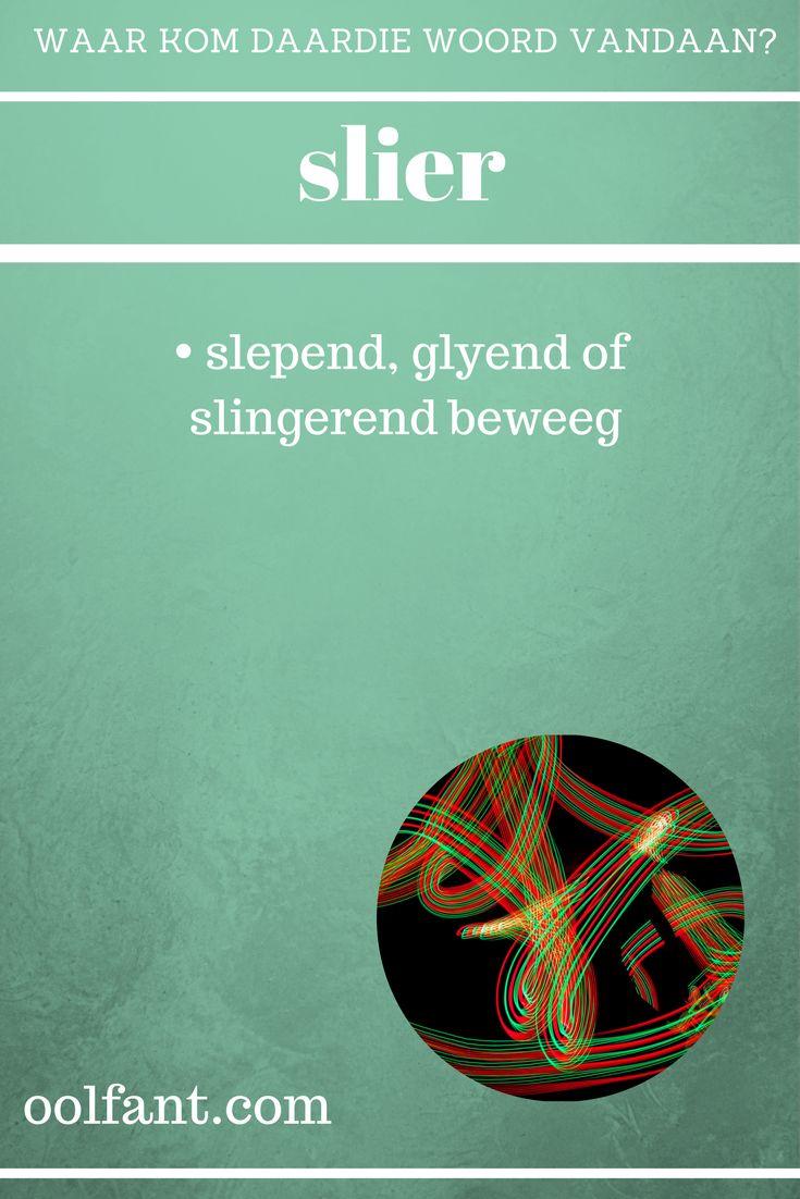 slier | slepende, glyend of slingerend beweeg | ongewone Afrikaanse woorde | Waar kom daardie woord vandaan