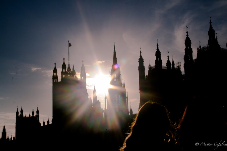 London, by me. The sun, the Parliament.  The CITY.