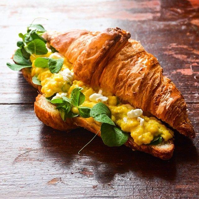 The ideal breakfast scramble. On a croissant. Photo courtesy of dennistheprescott on instagram.