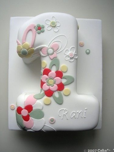 Perfect for a first birthday. You could change the decoration to something more boyish for a boy.