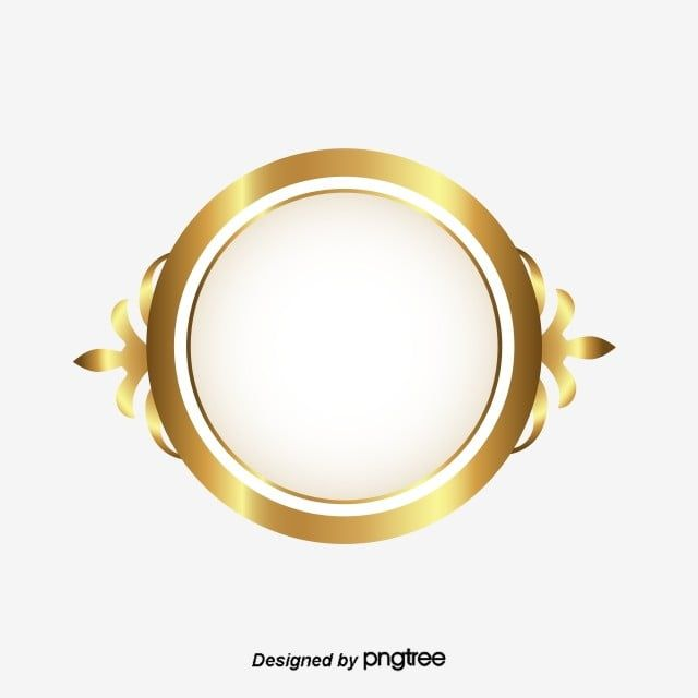 Golden Circle Frame Classic Style Style Luxury Png And Vector With Transparent Background For Free Download Circle Frames Frames Design Graphic Golden Circle