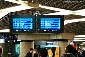 Here is another picture of Train Departures Screens. These are located in Gare de Lyon.