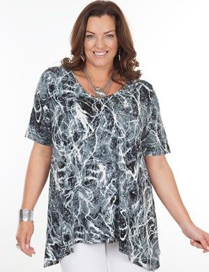 Plus size Timball Black/White Top
