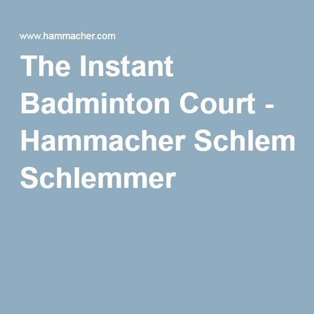 The Instant Badminton Court - Hammacher Schlemmer