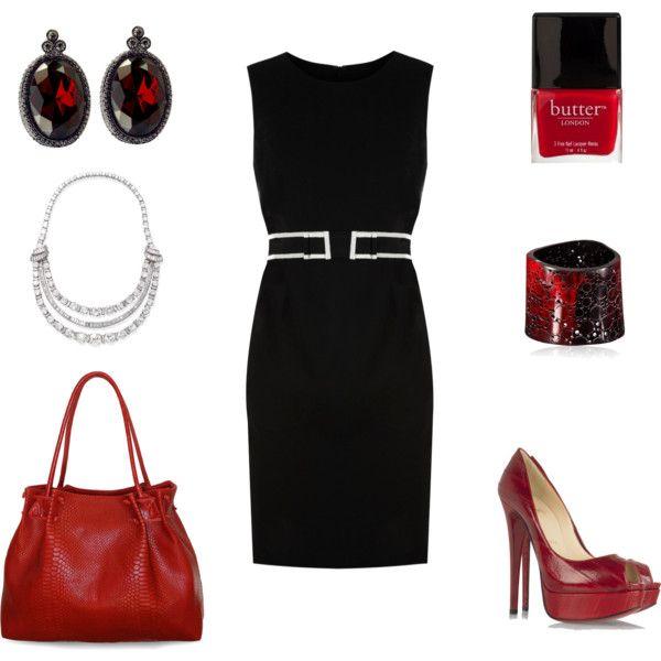 Outfit: Dresses Skirts Red Black Whit, Handbags Purses, Dresses Christian, Christian Louboutin Shoes, Little Black Dresses, Red Lov, Pencil Dresses, Fashion Shoes Clothes Etc, Black Dresses Red Shoes