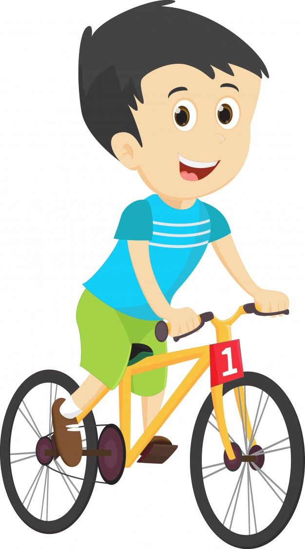 Nino Feliz Andar En Bicicleta Vector Pre Premium Vector Freepik Vector Fondo Caracter Dibujos Anima Bicicletas Ninos Ninos Felices Andar En Bicicleta