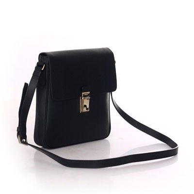 PRADA MESSENGER BAG IN SAFFIANO CALF LEATHER BLACK VA0973 - Prada Mens - Prada Bags