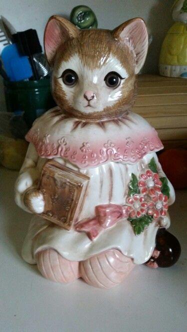 Vintage Glass Dog Cat Biscuit Jars