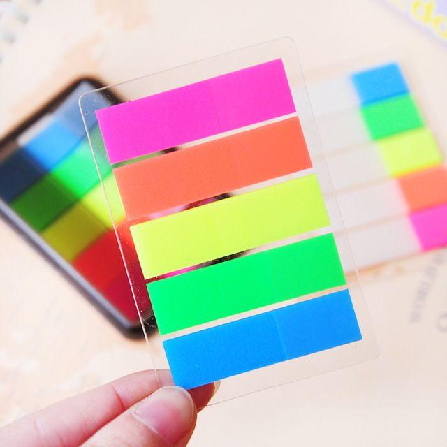 Kawaii bonito Colorido PET Memo Pad Criativo Fluorescente Nota de Post It Para Crianças Material Escolar Escritório Frete Grátis 158