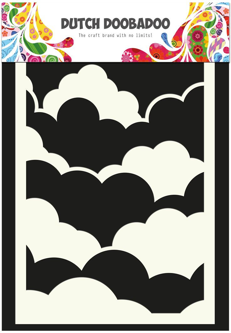 470.715.700 Dutch Doobadoo Mask Art Clouds
