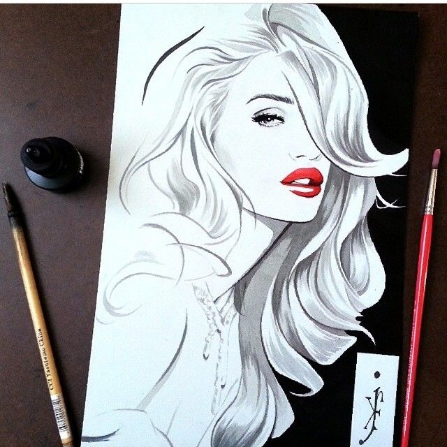 fashion illustration hairstylist❤️Studió Parrucchieri Lory (Join us on our Facebook Page)  Via Cinzano 10, Torino, Italy.