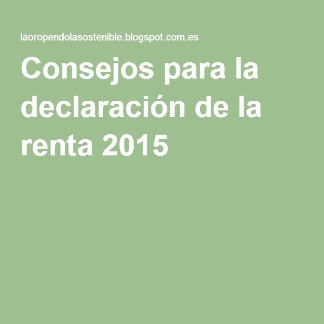 Consejos para la declaración de la renta 2015