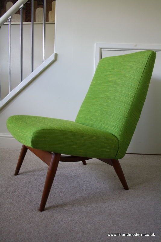 Vintage 1960s Parker Knoll Lounge Chair Armchair Mid ...