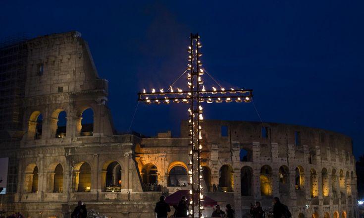 via crucis colosseum repubblica