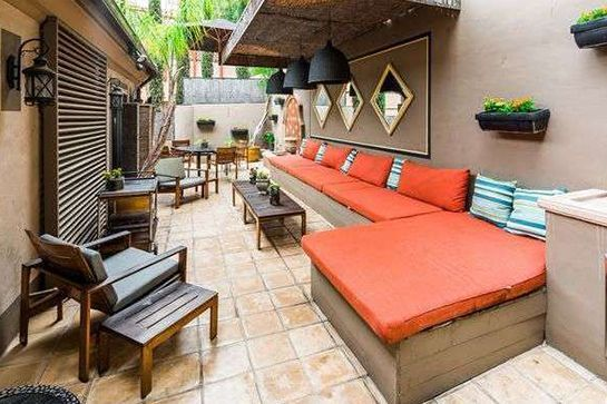 The outside deck is the star of the space. #refinery29 http://www.refinery29.com/2015/06/89577/audrina-patridge-selling-hollywood-hills-home#slide-6