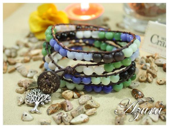 Azura 5 tiers wrapped bracelets Fabulous Spring by WackyCrafters, $12.50
