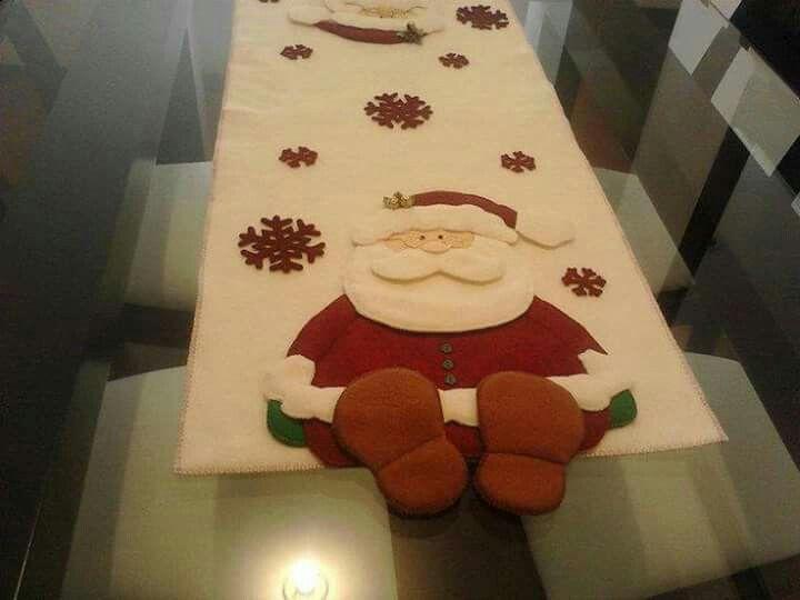 Papá Noel camino de mesa