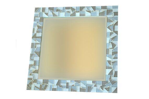 Mosaic Wall Mirror Square Mirror Wall Art by GreenStreetMosaics, $50.00