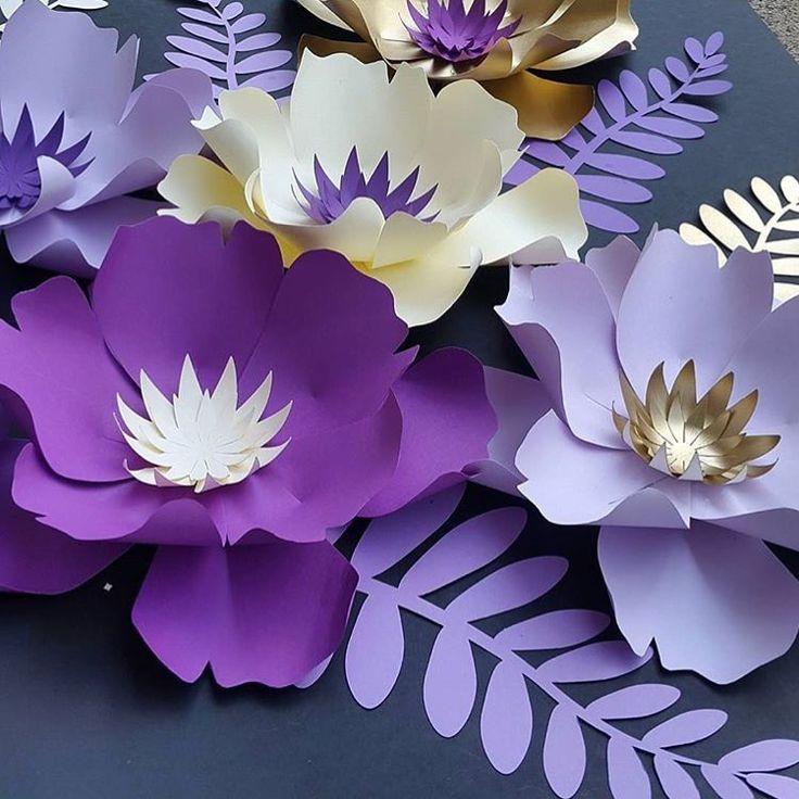 Цветы из бумаги для декора открыток своими руками