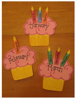 Doing this to celebrate my students' birthdays but having them colour the cupcake, write their birth date and glue the number of candles for the age they will be turning that school year